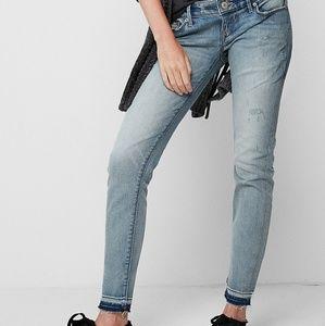 Express low rise jean leggings